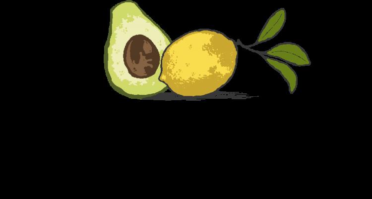 Avokadoa ja sitruunaa