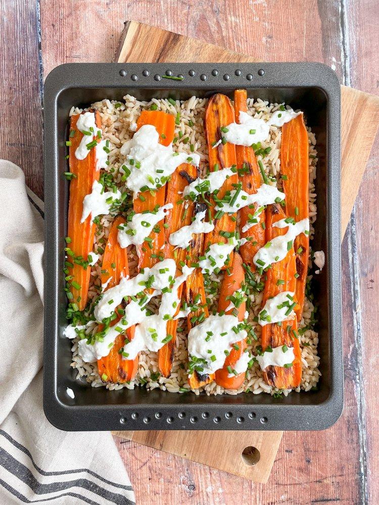 Paahdettuja porkkanoita