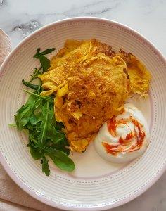 Aamiaisen porkkana-munakaspihvit