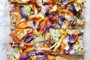 Kaurainen juurespizza