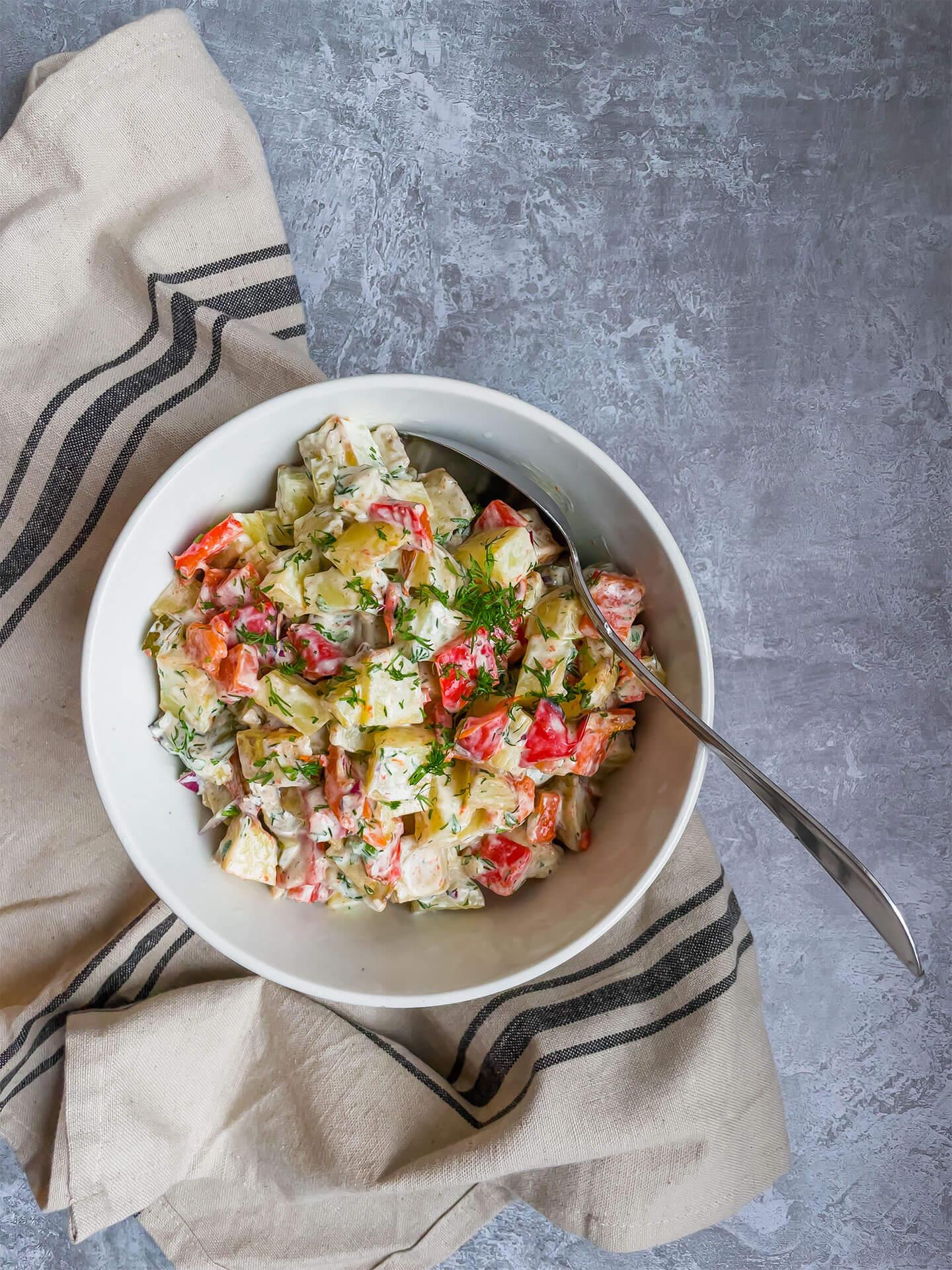 Paahdettu perunasalaatti