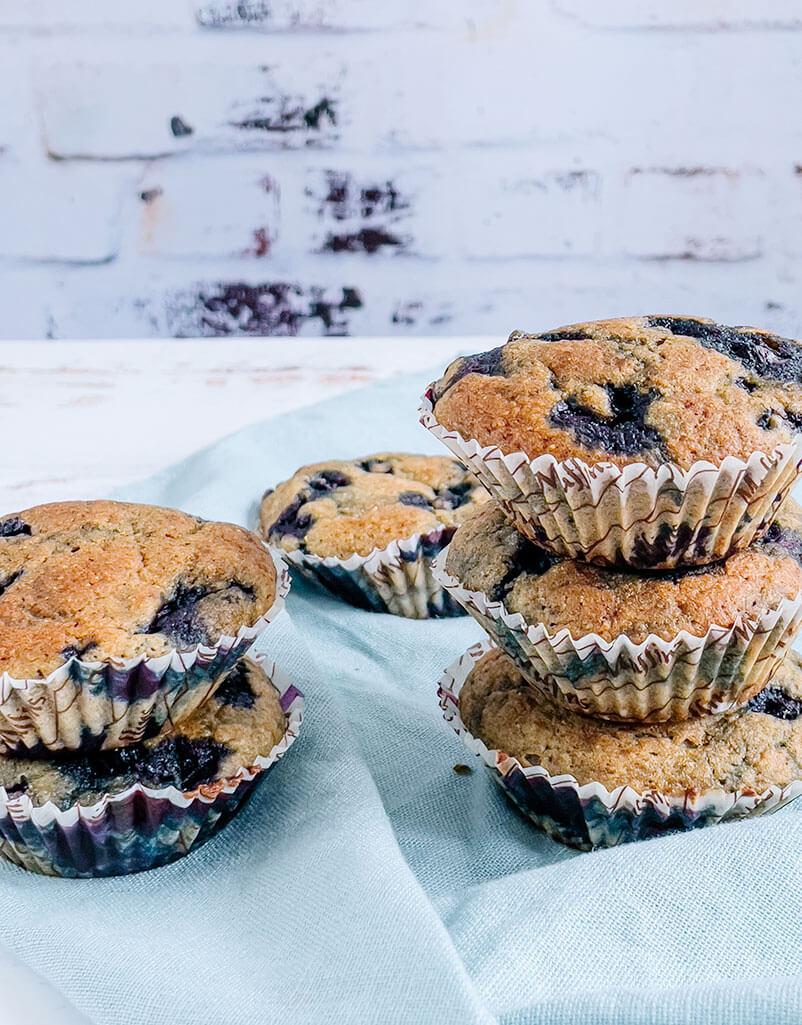 Kevyemmät mustikka muffinssit