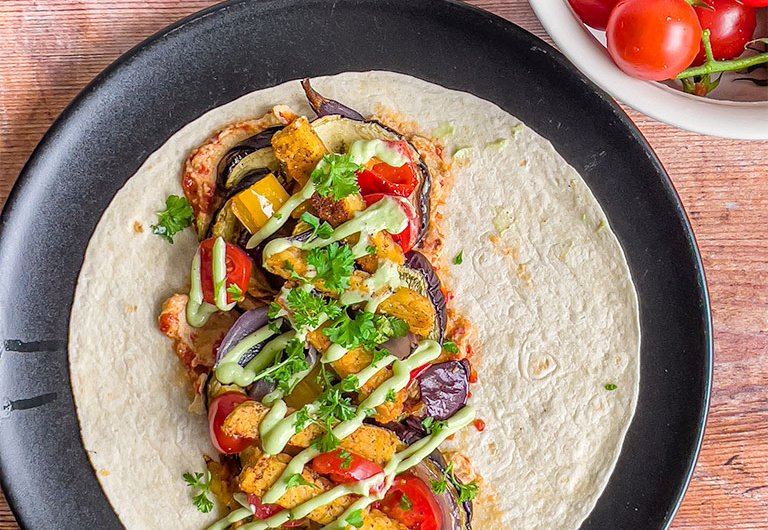 Kasvis-tempe-tortillawrapit