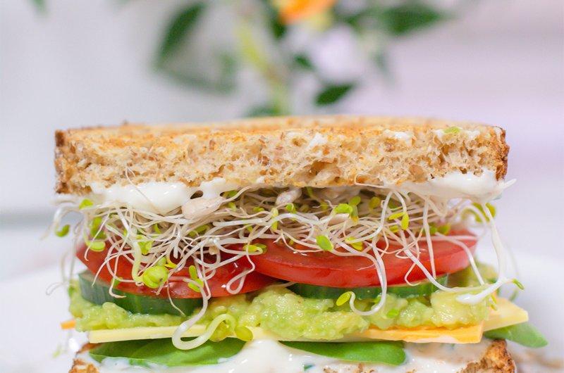Juusto-kasvis sandwich